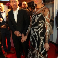 11 august 2019 (Malaga,Marbella ) Diego Simeone and his wife Carla Pereyra at the Decima gala Starlite in Marbella held to raise funds for the Lagrimas and Favors Foundation and for Cudeca
